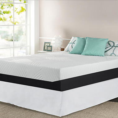 "13"" Night Therapy Pillow Top Pressure Relief Memory Foam Mattress & Bed Frame Set - Queen"