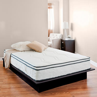 "Night Therapy 11"" Euro Top Memory Foam and Smart Spring Hybrid Mattress - Twin"