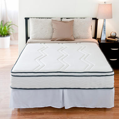 "Night Therapy 11"" Euro Top Memory Foam and Smart Spring Hybrid Mattress & Bed Frame Set - Full"