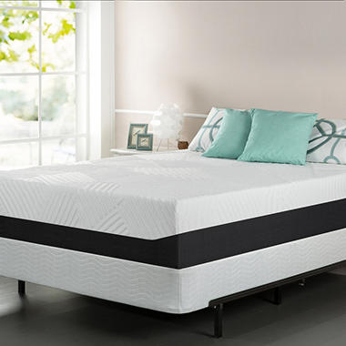 "13"" Night Therapy Pillow Top Pressure Relief Memory Foam Mattress & Bi-Fold® Box Spring Set – Queen"