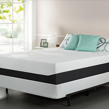 "13"" Night Therapy Pillow Top Pressure Relief Memory Foam Mattress & Bi-Fold® Box Spring Set - Cal King"