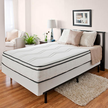 "11"" Night Therapy Euro Top Memory Foam and Spring Hybrid Mattress & Bi-Fold® Box Spring Set - Queen"