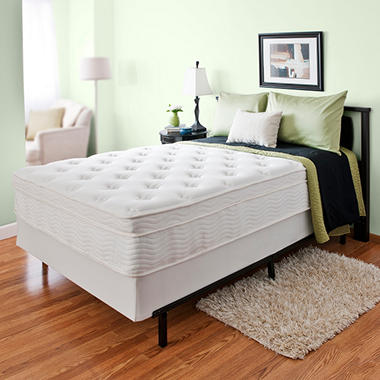 "13"" Night Therapy Euro Top Spring Mattress & Bi-Fold� Box Spring Set - Full"