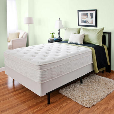 "13"" Night Therapy Euro Top Spring Mattress & Bi-Fold� Box Spring Set - Queen"