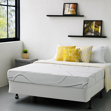 "Night Therapy Elite 8"" MyGel® Memory Foam Mattress & Bi-Fold® Box Spring   - Twin"