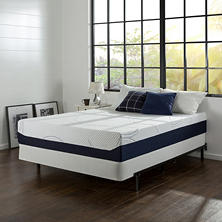 Night Therapy Gel Infused Memory Foam 12 Inch Elite Mattress & BiFold Box Spring Set- Various Sizes