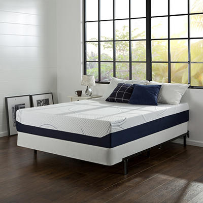 "12"" Night Therapy Elite Gel Infused Memory Foam Prestige Mattress & BiFold Box Spring Set  - Queen"