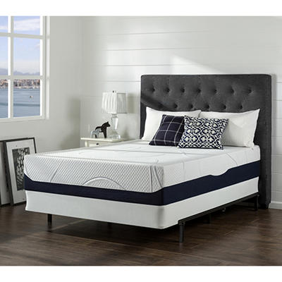 "13"" Night Therapy Elite Gel Infused Memory Foam Prestige Mattress & BiFold® Box Spring Set - Queen"