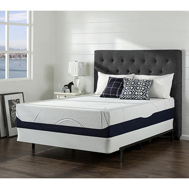 Night Therapy Gel Infused Memory Foam 13 Inch Elite Mattresses & BiFold Box Spring Set - Various Sizes