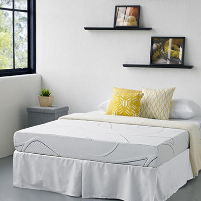 "8"" Night Therapy Elite Gel Infused Memory Foam Prestige Mattress & Bed Frame Set   - Twin  $100 OFF"