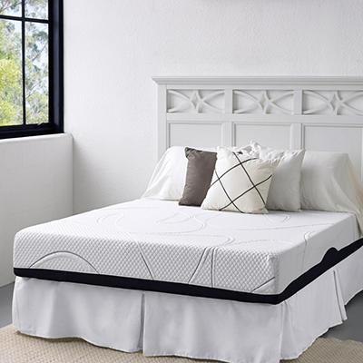 "10"" Night Therapy Elite Gel Infused Memory Foam Prestige Mattress & Bed Frame Set  - Queen"