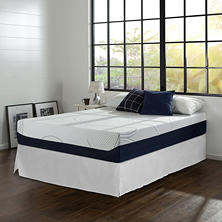 Night Therapy Gel Infused Memory Foam 12 Inch Elite Mattress & Bed Frame Set - Various Sizes