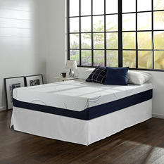 "12"" Night Therapy Elite Gel Infused Memory Foam Prestige Mattress & Bed Frame Set - Various Sizes"