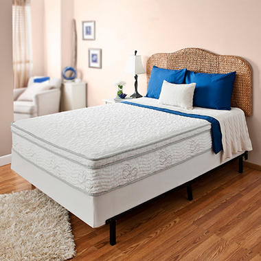 "Night Therapy Elite 11"" MyGel� Memory Foam Euro Box Top Spring Mattress & Bi-Fold�Box Spring - Queen"