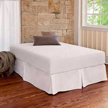 Night Therapy Memory Foam 8 Inch Pressure Relief Twin XL Mattress & Bed Frame Set
