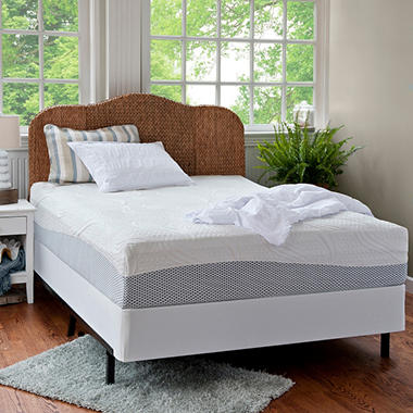 "12"" Night Therapy Pressure Relief Memory Foam Mattress & Bi-Fold� Box Spring Set - Queen"