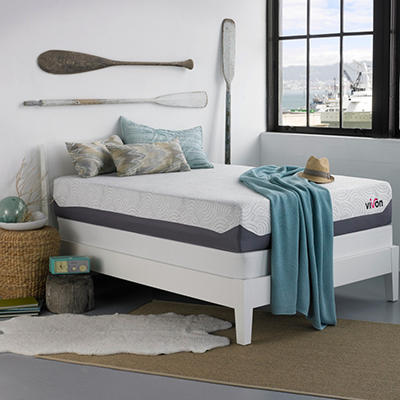 "Vivon 11"" Gel Memory Foam Mattress with Bifold Box Spring Set - Full"