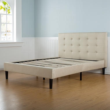 Taupe Tufted Upholstery Platform Bed (Assorted  NT-FTPB-F
