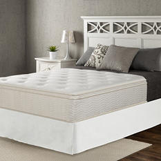 """Night Therapy Classic 12"""" Euro Box Top Spring Mattress and SmartBase Set (Various Sizes)"""