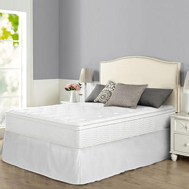 "12"" Night Therapy Euro Box Top Spring Mattress & Bed Frame Set - Queen"
