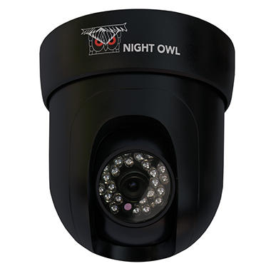 Night Owl Pan & Tilt Indoor Hi-Res CCD 420TVL Dome Camera with 50Ft Night Vision