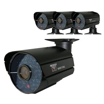 Night Owl 4 Pack 600TVL High Resolution Indoor/Outdoor 100' Night Vision Cameras