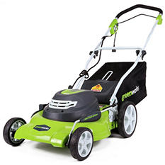 "GreenWorks 25022 12A 20"" Corded Lawn Mower"
