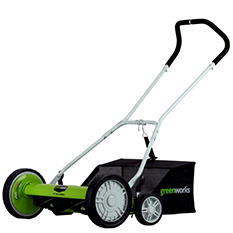 "GreenWorks 25072 20"" Push Reel Lawn Mower With Grass Catcher"