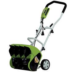 "GreenWorks 9 Amp 16"" Corded Snow Thrower"