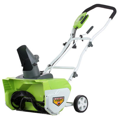 "GreenWorks 26032 12A 20"" Corded Snow Thrower"