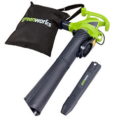 GreenWorks12 Amp 235MPH Variable Speed Corded Blower/Vac with Metal Repeller