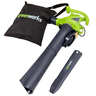 GreenWorks 24072 12A 235MPH Variable Speed Corded Blower/Vac with Metal Repeller
