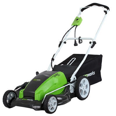 "GreenWorks 25112 13A 21"" Corded Lawn Mower"