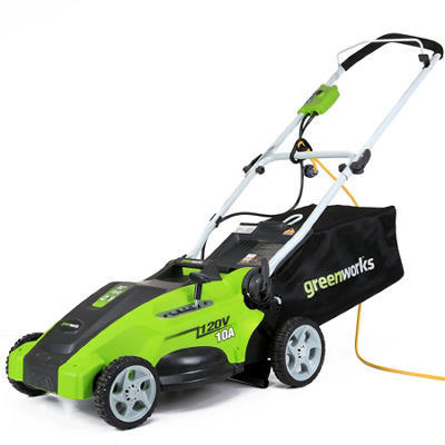 "GreenWorks 25142 10A 16"" Corded Lawn Mower"