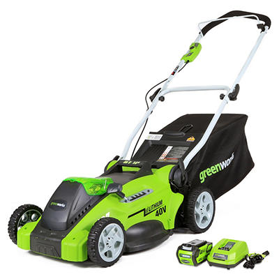 "GreenWorks 25322 G-MAX 40V 16"" Cordless Lawn Mower"