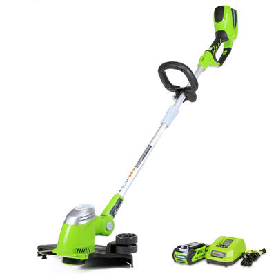 "GreenWorks 21302 G-MAX 40V 13"" Cordless String Trimmer with 2AH Battery and Charger Inc."