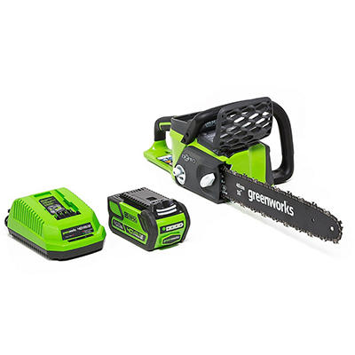 "GreenWorks 20312 G-MAX 40V 16"" Digipro Cordless Chainsaw with 4AH Battery and Charger"