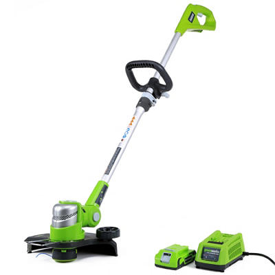 """GreenWorks 21342 G-24 24V 12"""" Cordless String Trimmer with 2AH Battery and Charger Inc."""