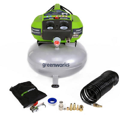 GreenWorks 41522 6-Gallon Corded Air Compressor