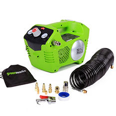 GreenWorks 4100002 G-24 24V Cordless Air Compressor - Battery and Charger Not Included