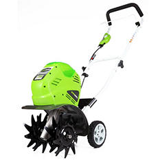 "GreenWorks G-MAX 40V 10"" Cordless Cultivator - Battery and Charger Not Included"
