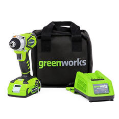 GreenWorks 37032C G-24 24V Cordless Impact Driver with 2AH Battery and Charger Inc.