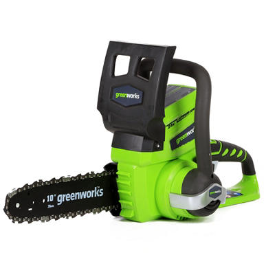 "GreenWorks 2000102 G-24 24V 10"" Cordless Chainsaw  - Battery and Charger Not Included"