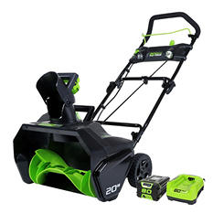 "GreenWorks 80V 20"" Snow Thrower"