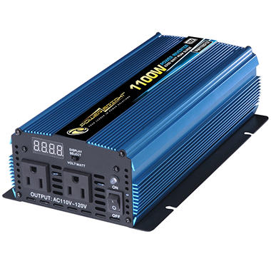 PowerBright - 12V DC to AC 1100 Watt Power Inverter