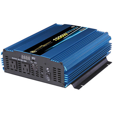PowerBright - 12V DC to AC 1500 Watt Power Inverter