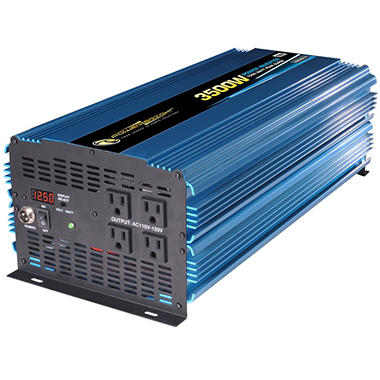 PowerBright - 12V DC to AC 3500 Watt Power Inverter