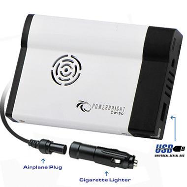 PowerBright - 12V DC to AC 150 Watt Power Inverter