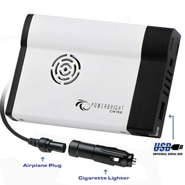 PowerBright - 12V DC to AC 150 Watt Power Inverter