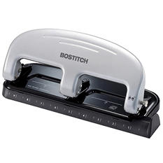 PaperPro - Three-Hole Punch, 20 Sheet Capacity -  Black/Silver